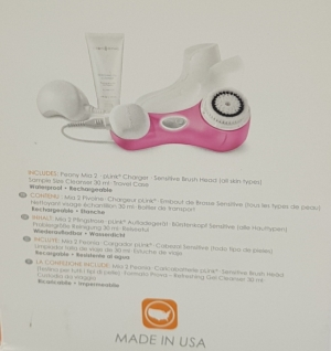 Аппарат для очистки лица Clarisonic Mia 2, ярко розовый.