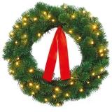 Светодиодный рождественский венок из искусственной хвои + гирлянда ideen welt.