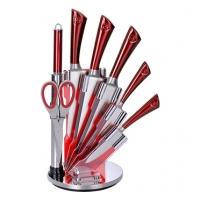 Красный набор ножей с нержавеющей стали с подставкой Royalty Line RL-KSS804