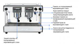 Двухпостовая кофемашина б/у профессиональная CASADIO DIECI A2.
