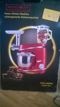 Кухонный комбайн, кухонная машина, тестомес, мясорубка, миксер, блендер Royalty Line PKM-1600BG 1600W