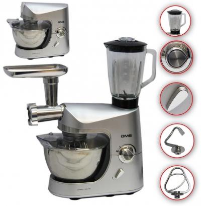 Кухонный комбаин, кухонная машина, тестомес, мясорубка, миксер, блендер DMS KMFB-1800.